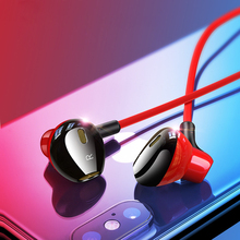 Hifi Earphone In-ear Headset with HD Microphone 3.5mm 6D Surround Bass Earphones for Phone Xiaomi Samsung Huawei fone de ouvido все цены