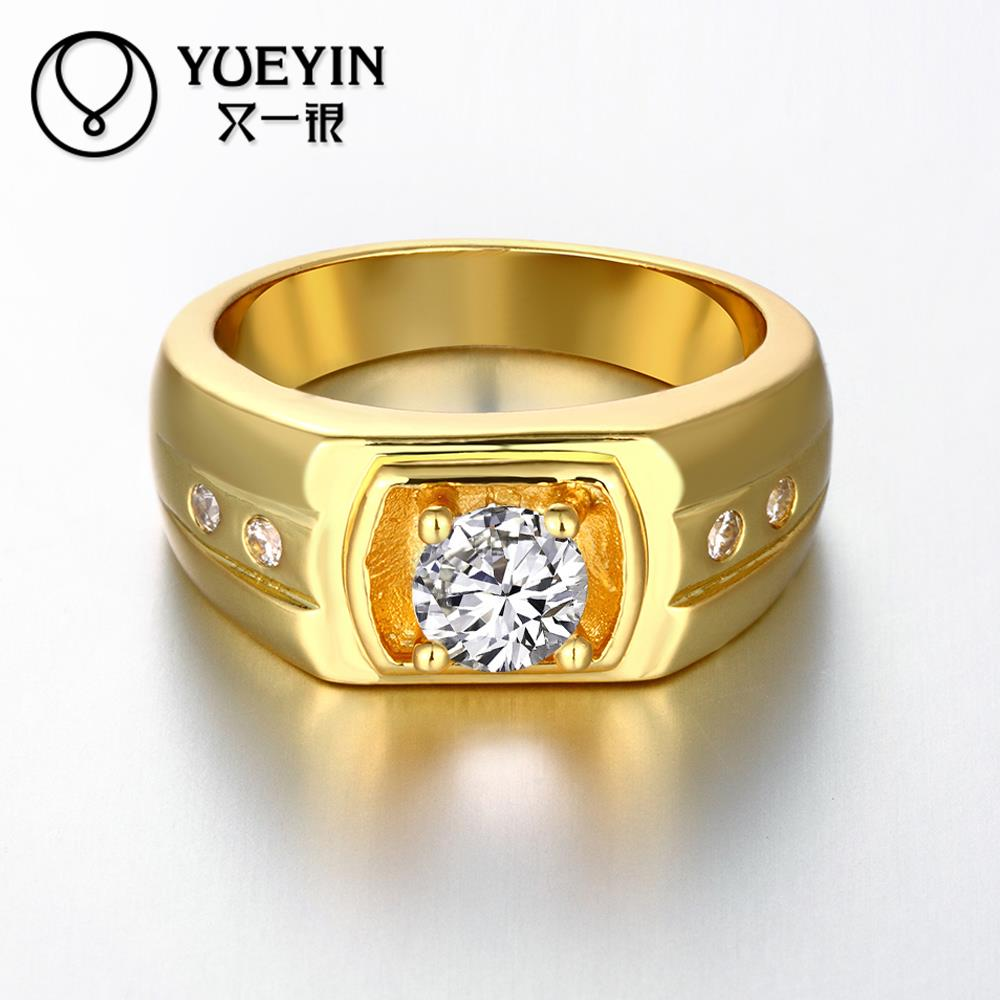 Newest Trendy Male Jewelry Crystal Rings Wedding, Korean ...