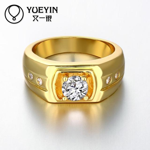 Newest Trendy Male Jewelry Crystal Rings Wedding Korean Couple