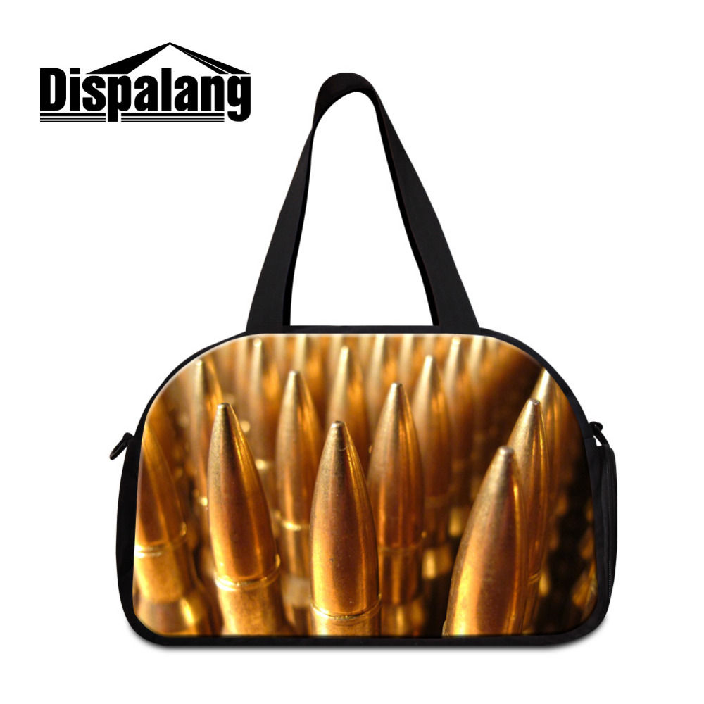 dispalang bullet print men luggage bag large travel bag military fans mens weekend travel duffle tote - Travel Tote Bags