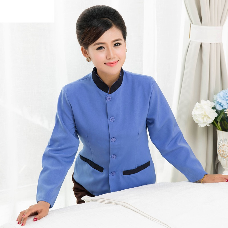 Cleaning-Service Trousers Work-Wear Female Winter 10-Set-Coat--Pant Plus-Size with Overalls