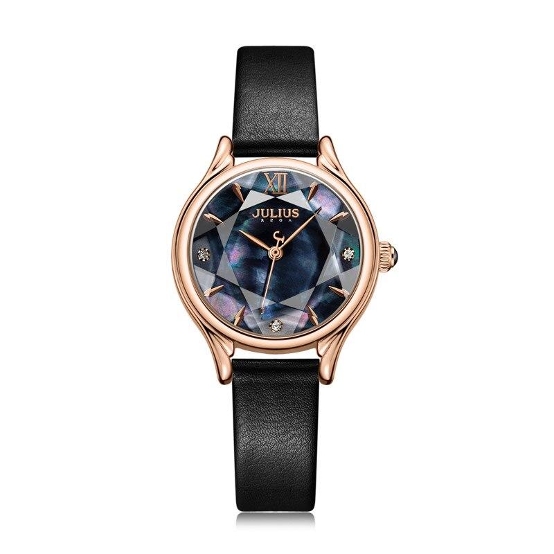 Julius Watch New Women's Dress Watch Relogio Feminino Luxo Leather Strap High Quality 30M Waterproof Watch Dropshipping JA-1154