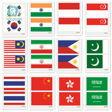 2018 Asia Bendera Stiker Tattoo Korea, India, Indonesia, Arab Saudi thailand Singapura Pakistan Bendera Malaysia Tato Sementara(China)