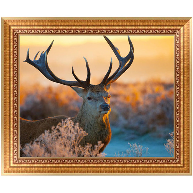 DIY 5D Diamond Painting Deer Antlers Embroidery Painting Cross Stitch Craft Home  Decor Kit 37*