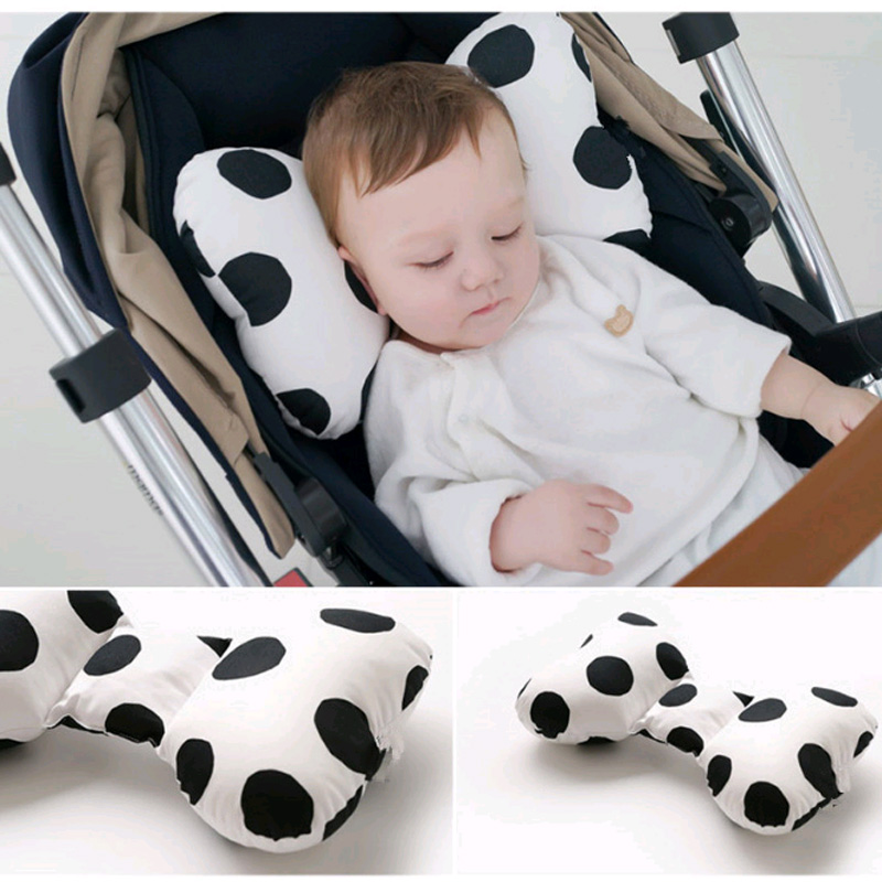 Baby Pillow Car Seat Headrest Breathable Cotton Newborn Sleep Positioner Body Neck Protection Cushion Stroller Accessories