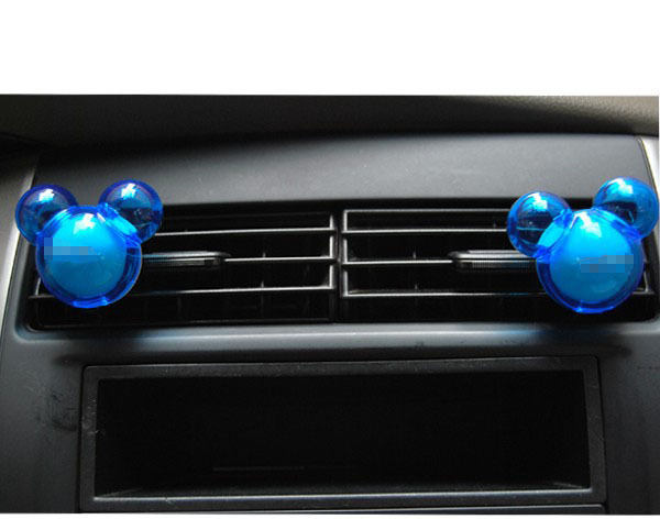 1 Pair Car Vent Air Solid Freshener Outlet Car Perfume Diffuser Auto Car Accessories Cartoon Mickey Mouse Shaped