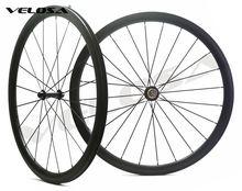 Hinterrad Asymmetrische 38mm drahtreifen/rohr vollcarbonfahrrad wheelset, 700C rennrad rad, hinten asym rim U form felge,