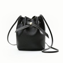 Arsmundi Fashion Small Women Bags PU Leather Bucket Bag Mini Single Shoulder Messenger Bag Lady Casual Handbag Valentine's Gift