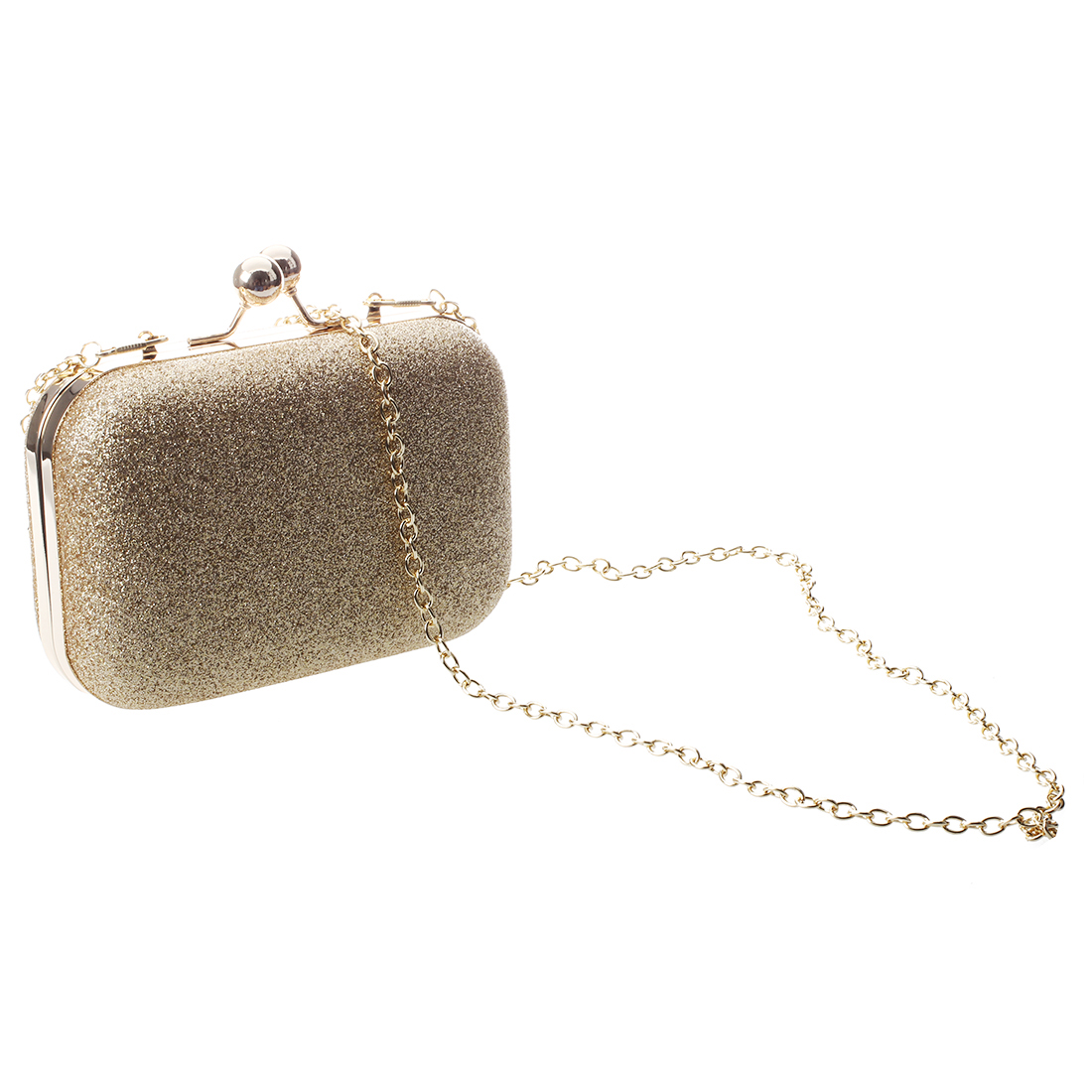 8 Pcs of (Clutch Hand Shoulder Bag Women PU Leather Shoulder Bag Gold Ball Evening Party Wedding )