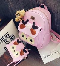 Новый 2016 модно рюкзак ветер шутник мультфильм симпатичные олень колледжа студенты школьная сумка