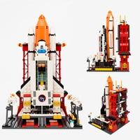 City Spaceport Space The Shuttle Launch Center 679Pcs Bricks Building Block Educational Toy For Children Legoings Designer Block