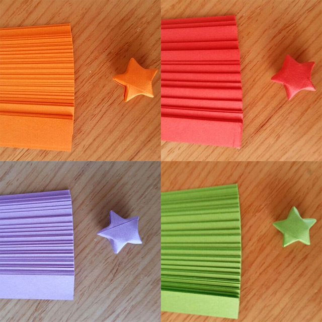Candy Color Diy Paper Craft Scrapbooking Paper Origami Lucky Star