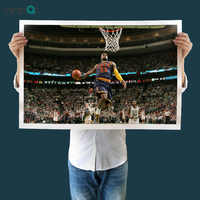 Home Decor Art Canvas Lebron James Cavs Dunk Wall Painting Sport Basketball Poster Canvas Prints Paintings Art Wall No Frame