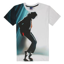 Fashion Hip Hop T-shirt Men/Women Short Sleeve 3d T-shirt Funny Print Michael Jackson Slim Summer Rock Unisex T Shirt Top Tee B0