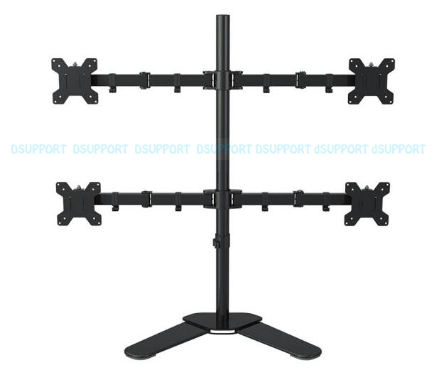 ML6884 Desktop Stand Full Motion 360 Degree 4 Screens Monitor Holder 10-27LCD LED Monitor Mount Arm Loading 9.9kgs Each Head