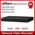 Экспресс Доставка Dahua NVR5208 4KS2 NVR5216 4KS2 NVR5232 4KS2 16/32CH 1U 4K и H.265 Pro Сетевой Видео Регистраторы 12MP Full HD 2SATA