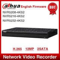 ESPRESSO di Trasporto Libero Dahua NVR5208-4KS2 NVR5216-4KS2 NVR5232-4KS2 16/32CH 1U 4K & H.265 Pro Registratore Video di Rete 12MP Pieno HD 2SATA