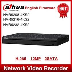Transporte expresso dahua NVR5208-4KS2 NVR5216-4KS2 NVR5232-4KS2 16/32ch 1u 4 k & h.265 pro gravador de vídeo em rede 12mp hd completo 2 sata