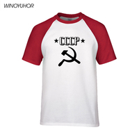 CCCP T Shirts Men USSR Soviet Union Man T Shirt Summer Short Sleeve Moscow Russia Tees