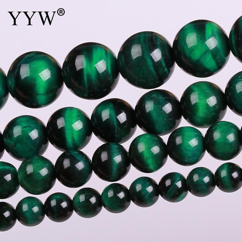 Natural Tiger Eye Beads, Round, different size for choice, green, Grade AAAAAA, Hole:Approx 1mm, Sold Per Approx 15.5 ...