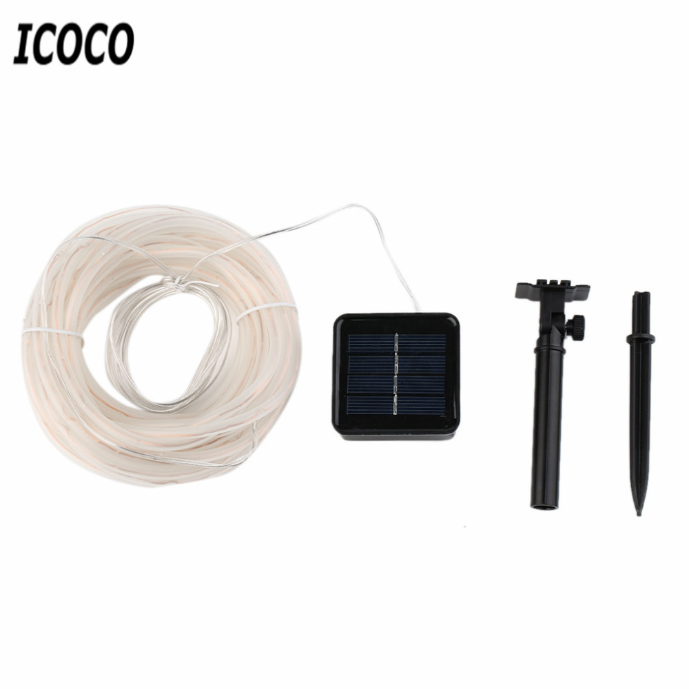ICOCO 50/100 LED 4*6MM Waterproof Solar Powered Copper Wire Lamp Holiday Bright String Light Christmas/Wedding/Decoration
