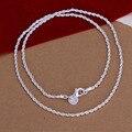 Mujeres masculino bucle largo collar de cadena de la serpiente de la joyería simple collar de cuerda femenina joyería de la astilla plateó bijouterie regalos INE288-92