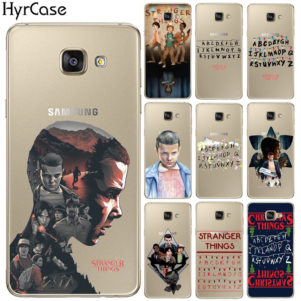 HryCase Matte Hard Plastic TV Stranger Things Pattern Case For Samsung Galaxy A3 A5 A7 J1 J3 J5 J7 2015 2016 2017 Phone Cover