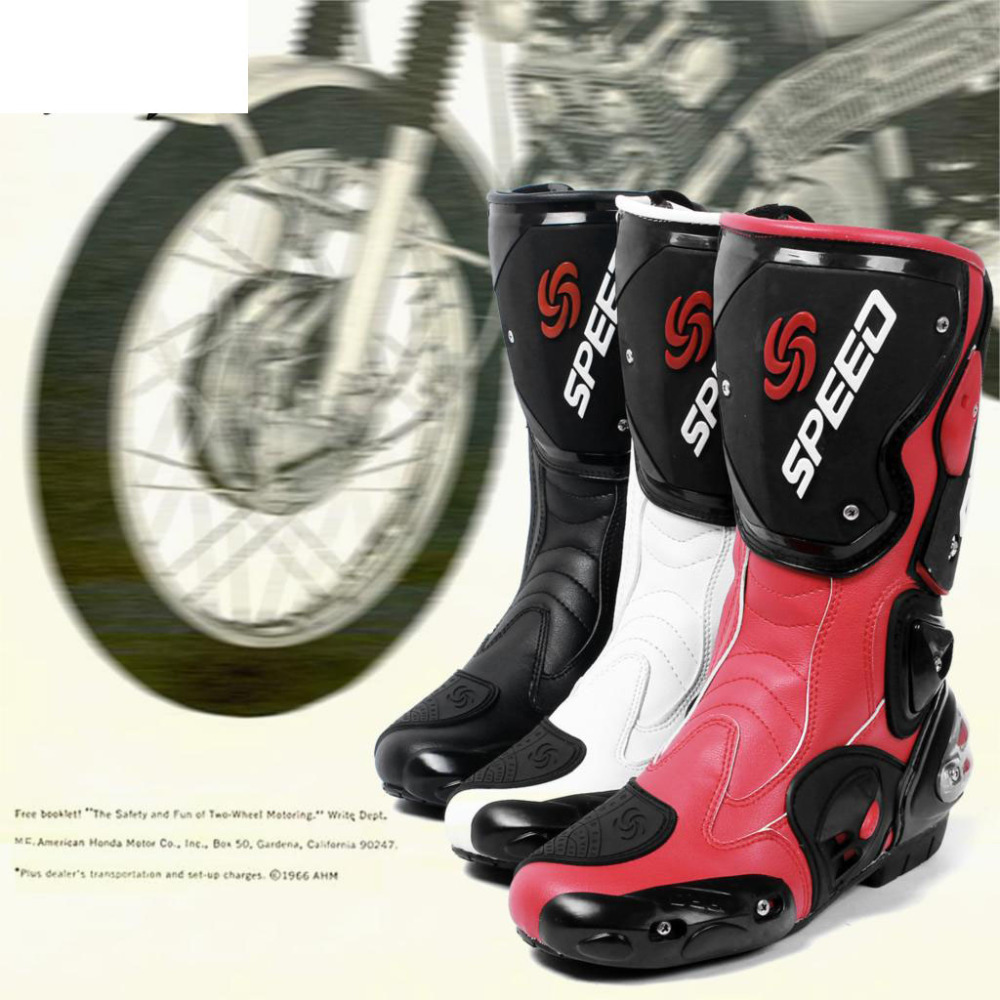 Pro Biker Brand New Haute qualité Mode Moto Bottes Motocross Off-Road Racing Chaussures Moto équipement de Protection 3 couleurs
