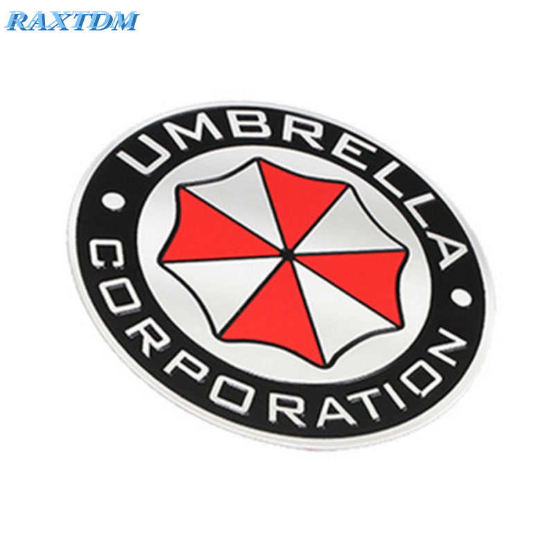 3D Aluminum Umbrella corporation car sticker For Toyota Camry Corolla RAV4 Highlander Land Cruiser PRADO Vios Prius