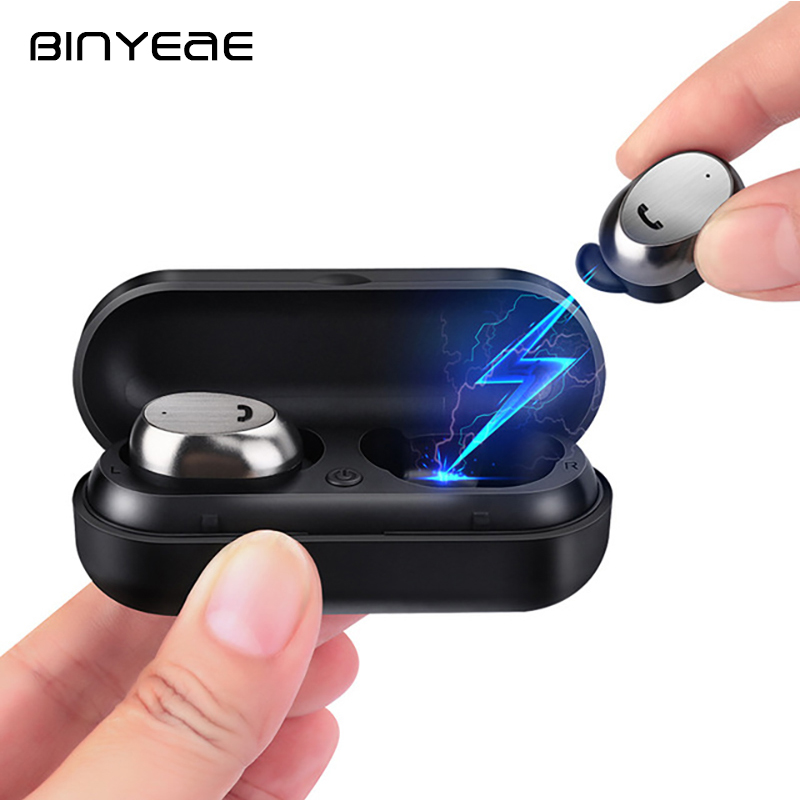 BINYEAE M9 TWS 4.1 Blutooth Earphone In-Ear Earbuds Wireless Earphones with Charging Box for Xiaomi iphone MP3