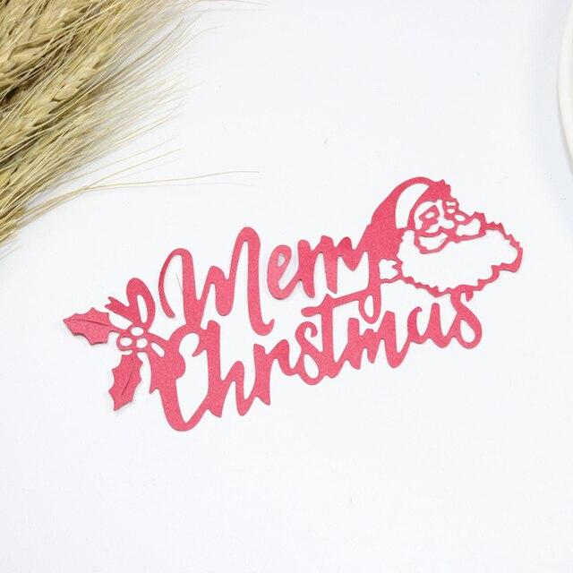 metal cutting dies new 2018 merry christmas border stencils for diy scrapbooking dies cut metal die - Merry Christmas Border