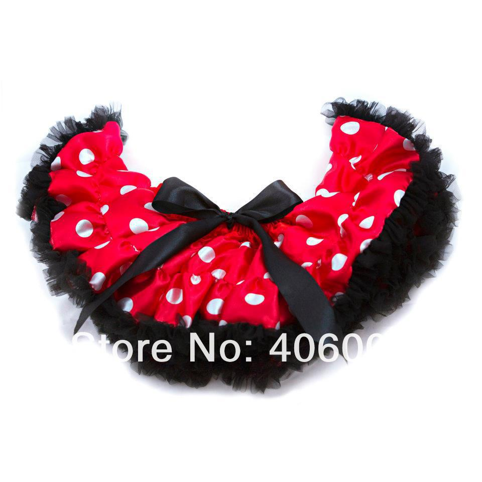 fashion red Minnie Mouse saia tutu pettiskirt fluffy bow toddler tutu skirts free shipping