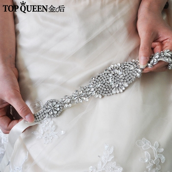 TOPQUEEN H123 Handmade Wedding Headband For Bridal Rhinestone Tiaras Hair Accessories Elegant Headpiece Women Hair Jewelry slbridal handmade crystal rhinestone pearls flower wedding hair clip barrettes bridal headpiece hair accessories women jewelry