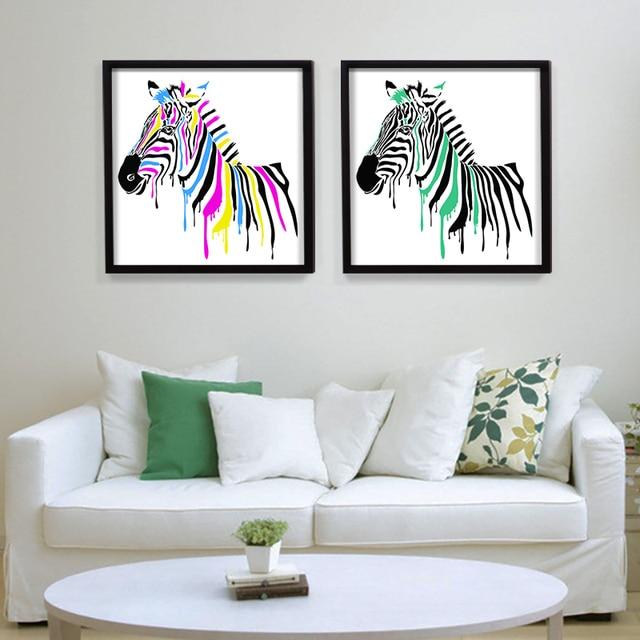 Zebra moderna decorazione pittura soggiorno poster da parete ...