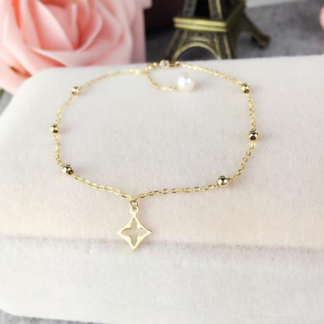 9afc986b8da9 AINUOSHI 18 K oro amarillo pulsera de perlas naturales cultivadas perla  agua dulce pulsera de cuentas