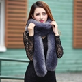 New women fall and winter faux rabbit fur long scarf, Lady elegant temperament accessories shawl Candy color girls plush scarves