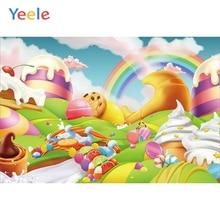 Yeele Vinyl Cartoon Dessert Children Birthday Party Photography Background Baby Child Photographic Backdrop Photo Studio