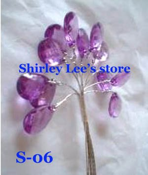 Wholesale--1000pcs diamente sticks SINGLE CRYSTAL PICK MORE COLORS w/wired stem (Free Shipping)