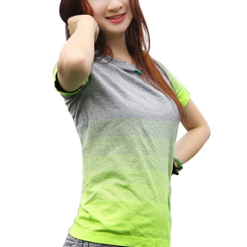 ©Для женщин быстросохнущие футболки Повседневное с ...