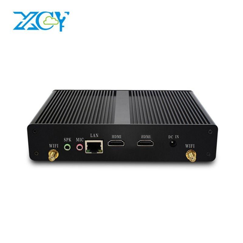 XCY Office Mini PC Intel Celeron N2808 Dual cores 2 HDMI Business Mini Computer HTPC Barebone
