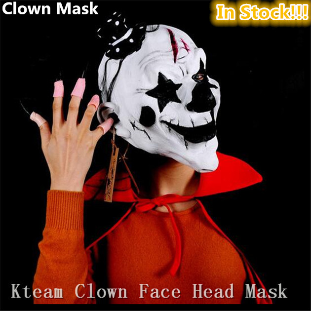 Free shipping Halloween Party Cosplay Scary Clown Mask Smile Latex ...