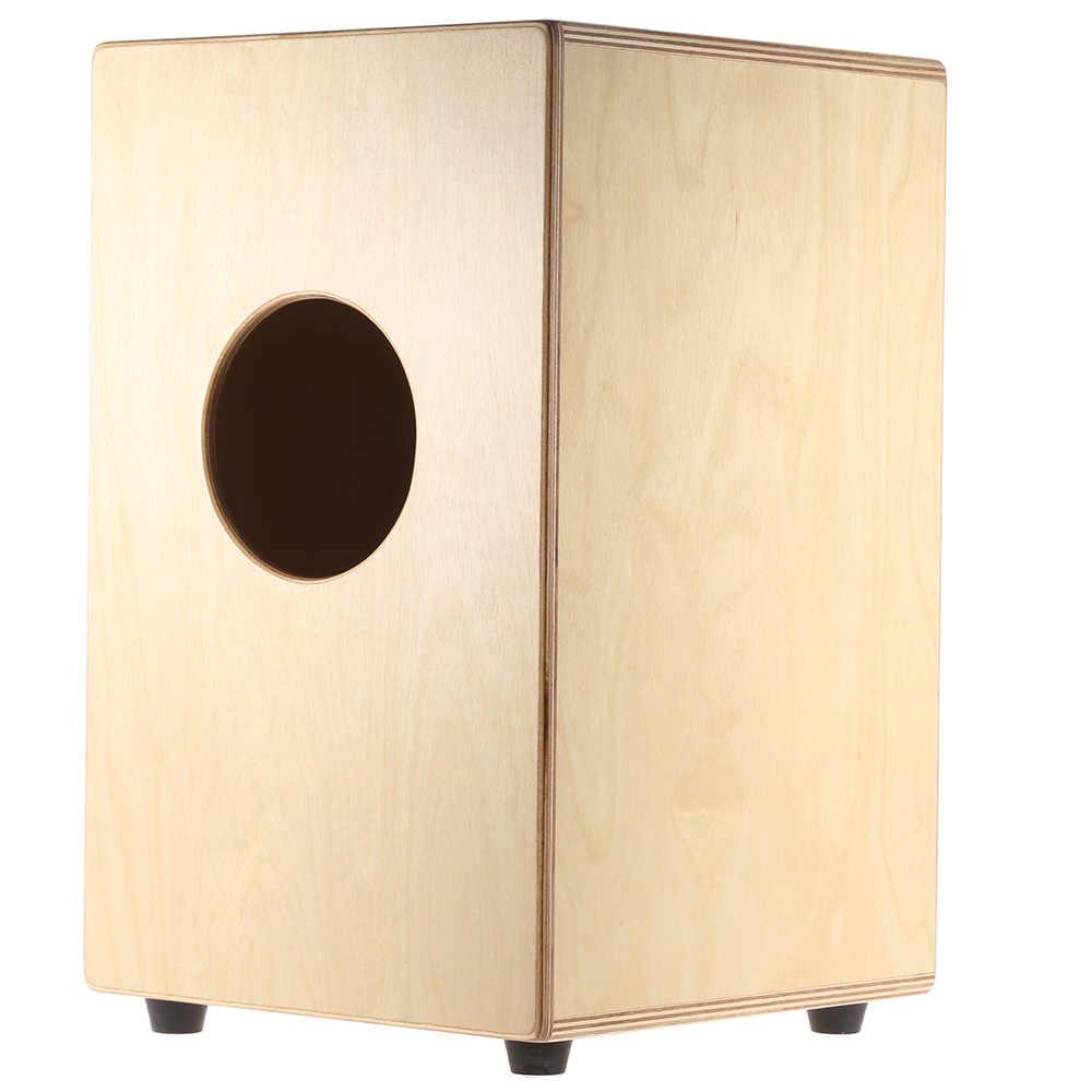 Высокое качество ammoon Cajon детский барабан без палочек деревянный ящик барабаны убедительные инструмент с укусами резиновая средства ухода за кожей стоп 23*24*37 см