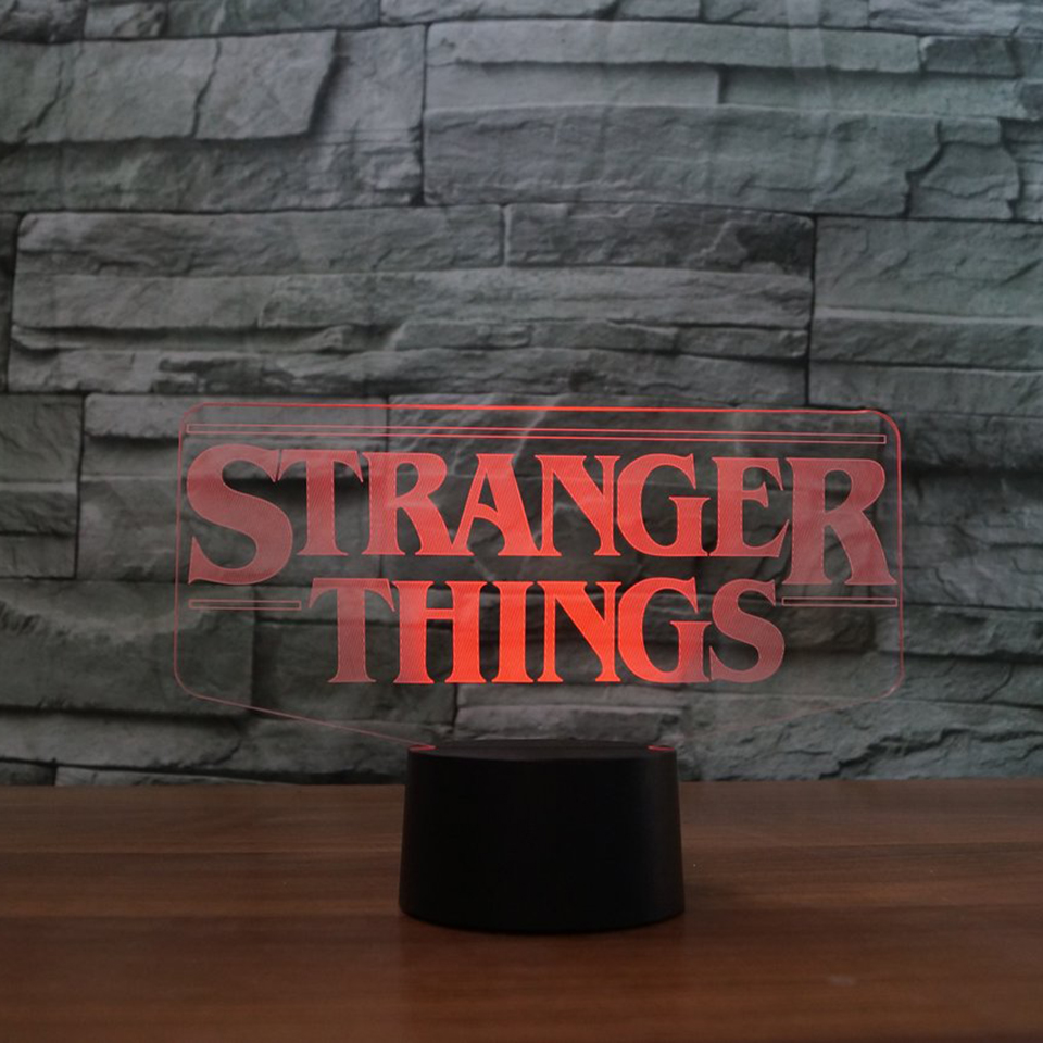 7 Colors Changing 3D Acrylic Led Luminous Stranger Shape Table Lamp Office Home Decor Child Movie Bedside Sleep Night Light Gift