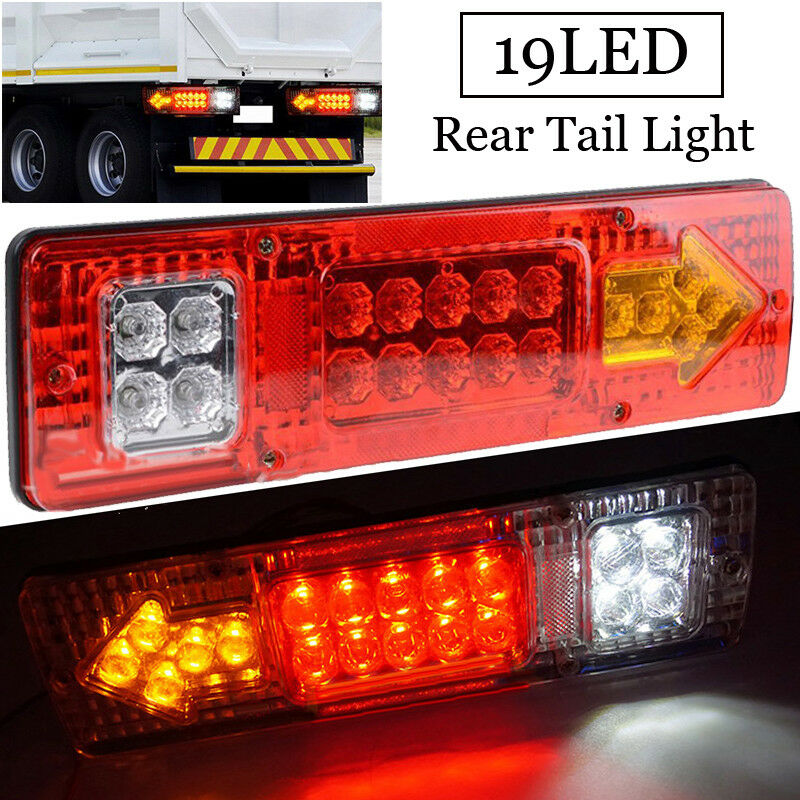 Rear Tail Light Brake Turn Signal Reverse Lamp 12V 19-LED For Car/Trailer/Truck