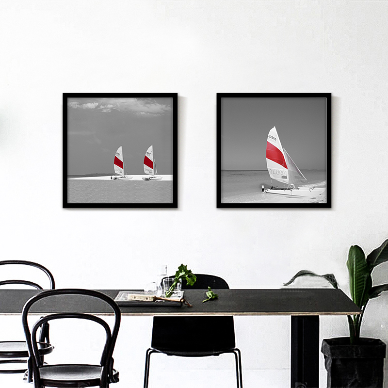 Retro Seascape Sailing Boat Europe Art Canvas Painting Wall Picture for Cafe Room Decor Home Office Adorned Prints No Frame