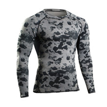 NEW Man Tshirt Long Sleeve Compression Fitness Men Tee Shirt Homme Body Workout Clothes Camouflage