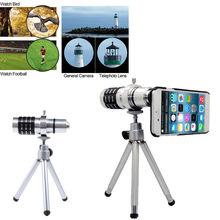 Buy online ZEALLION 12X Optical Zoom Telescope Camera Lens + Case + Mini Tripod For Xiaomi Mi 3 4 Case