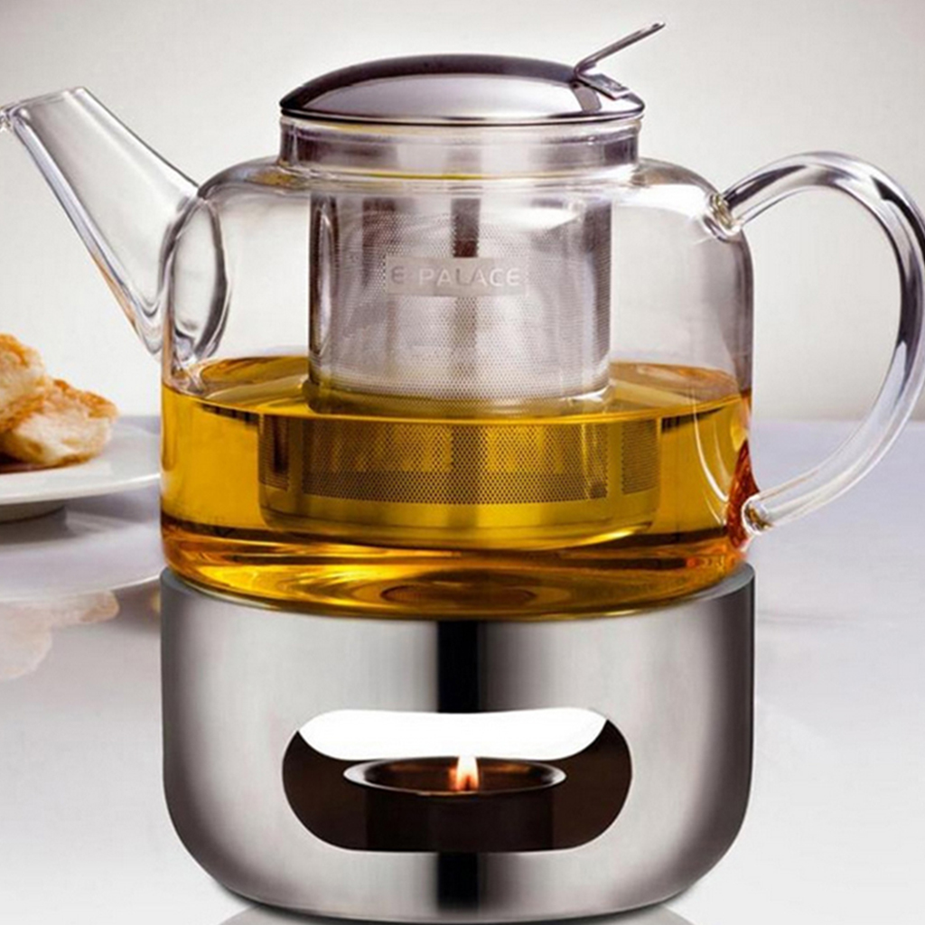 Safety Durable Teapot Warmer Heating Base Stainless Steel Tea Light Candle Heat Resistant Part Universal Size For Most Teapot
