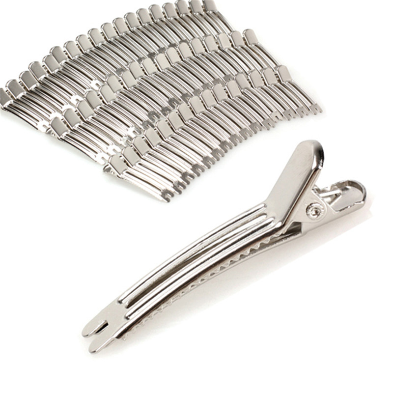 Portable 50Pcs 47mm Double Prong Alligator Clips Hair Clip Bows Bobby Pin With Teeth 2018 Best Selling Gift For Women