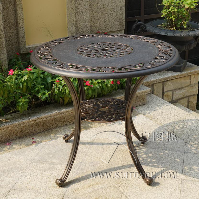 Cast aluminum table patio furniture garden furniture Outdoor furniture durable fashion 5 piece cast aluminum patio furniture garden furniture outdoor furniture
